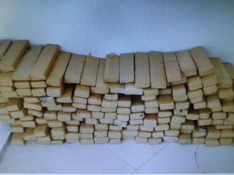 Polícia divulgou imagens de carregamentos trazidos por Lucas. Registro foi feito durante as invetigações (Foto: SSP/ Divulgação)