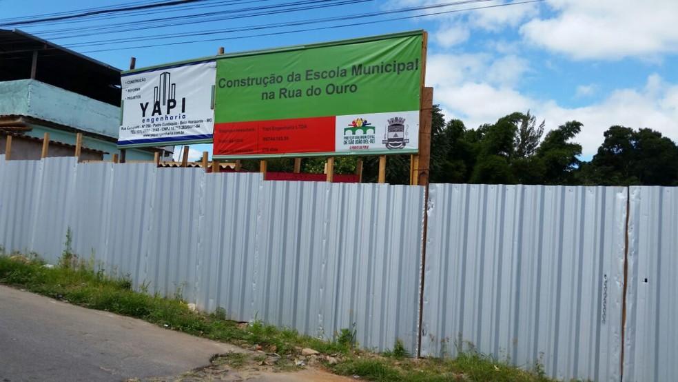 -  Obra de escola municipal no Bairro Alto das Mercês em São João del Rei  Foto: Prefeitura de São João del Rei/Divulgação