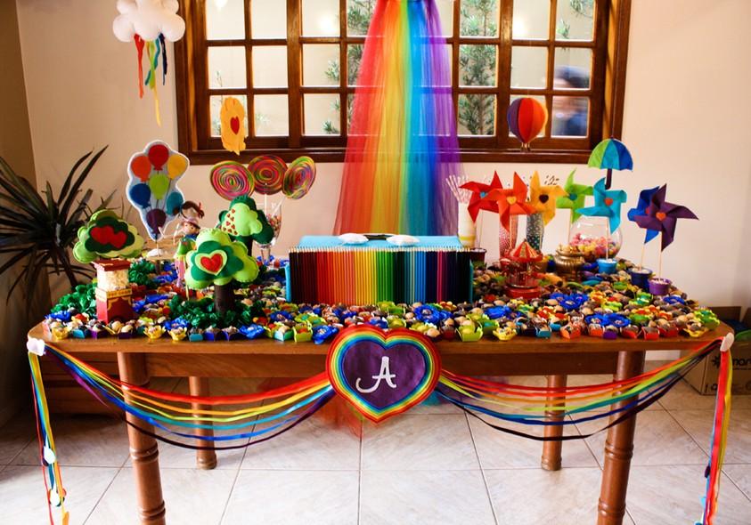 Tema Para Festa De Aniversário Arco íris Crescer Temas