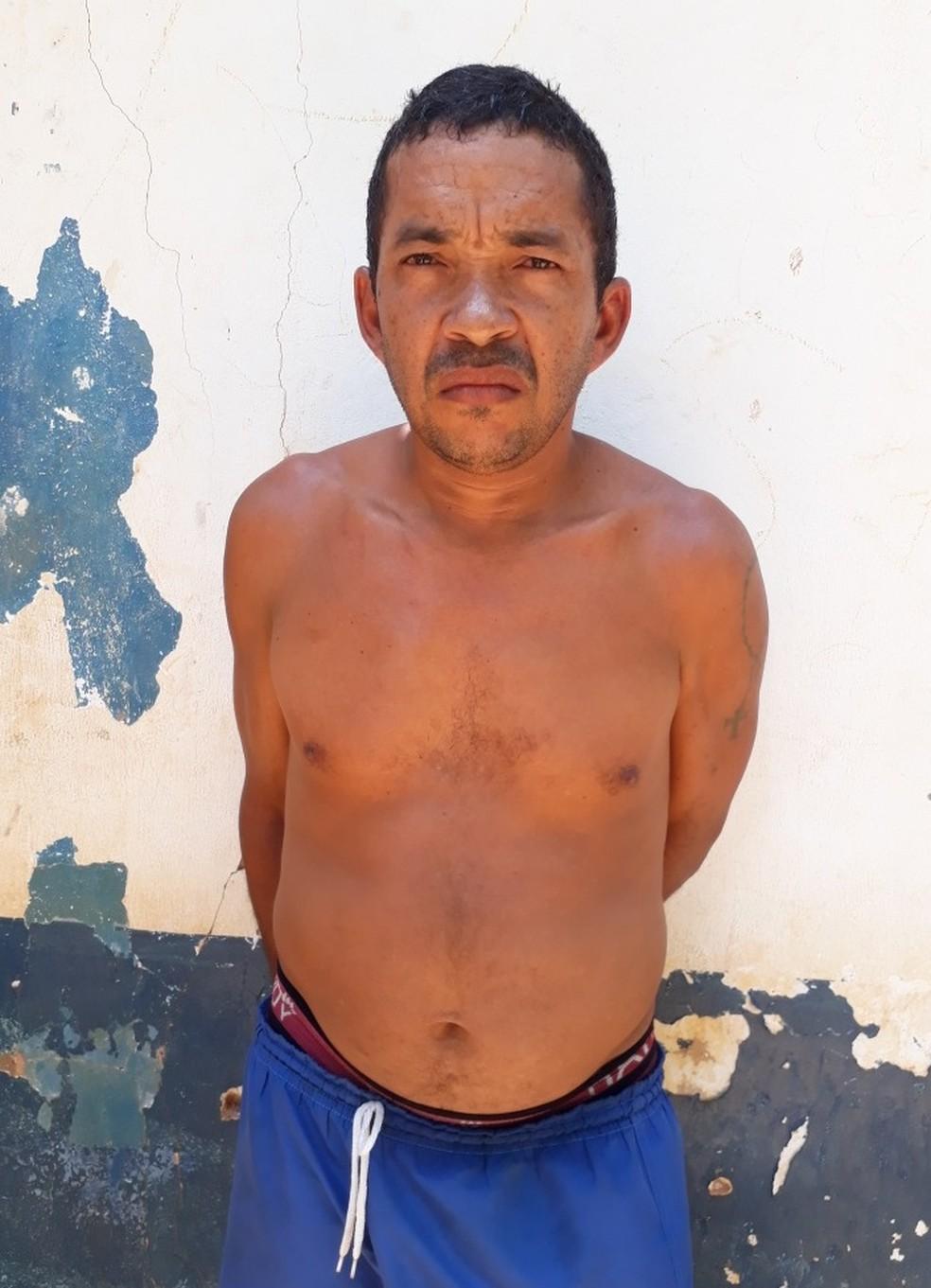 Marcelio de Oliveira Silva foi preso no bairro Matadouro em Matões — Foto: Divulgação/Polícia