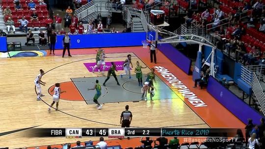 Toco espetacular de Érika garante a liderança brasileira ao fim do 3° quarto