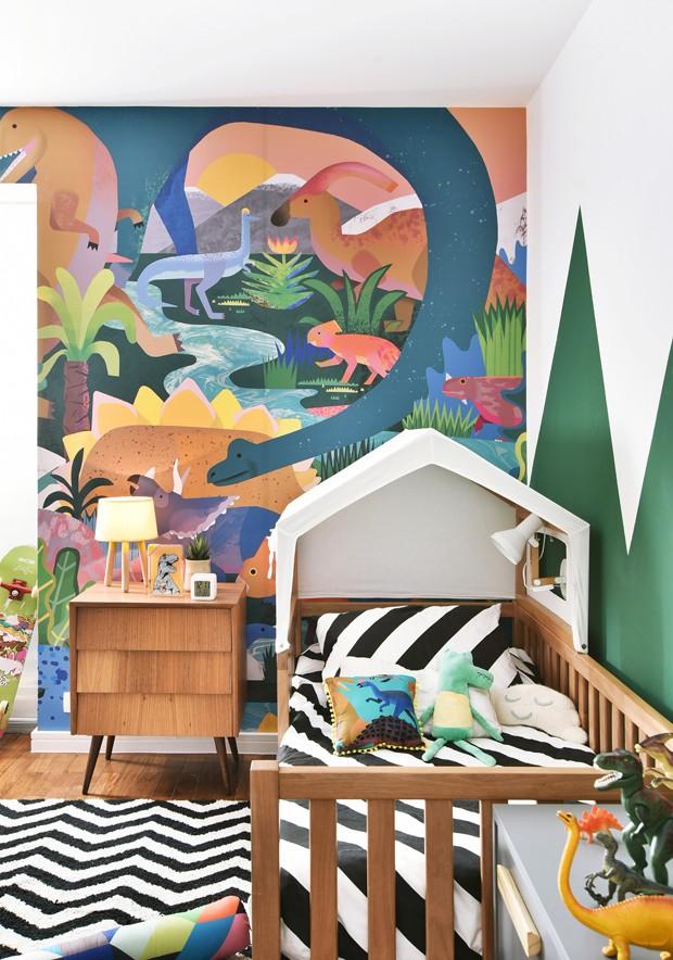 Décor do dia: quarto infantil com decoração de dinossauros (Foto: Sidney Doll)