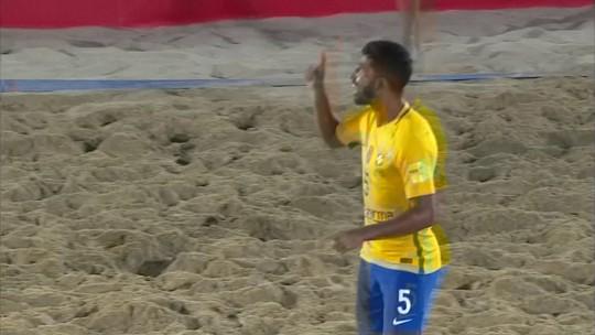 Os gols de Brasil 2 x 0 Portugal pela final da Copa Intercontinental de futebol de areia