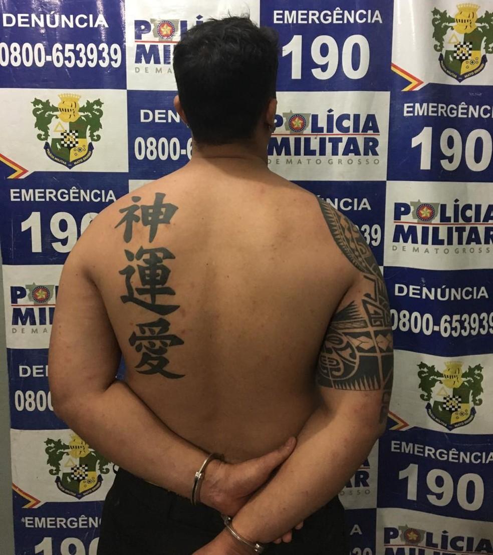 Bruno de Lima Pereira, de 27 anos, está preso na Penitenciária da Mata Grande — Foto: Polícia Militar de Rondonópolis/Divulgação