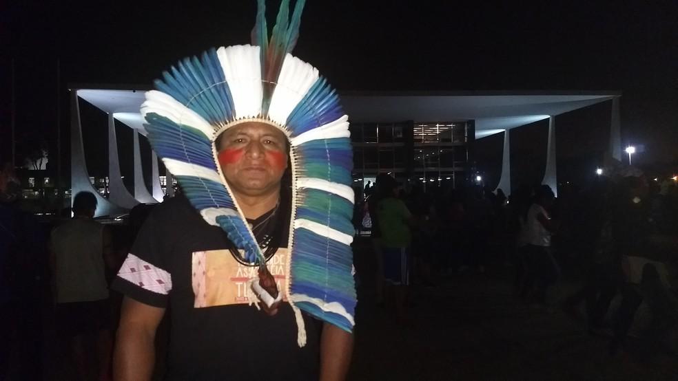 Alberto Pereira é liderança do povo Terena (Foto: Marília Marques/G1)