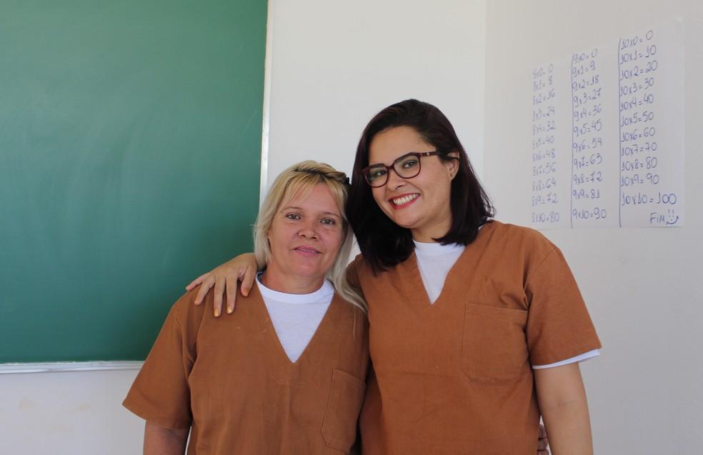 Mãe e filha são parceiras de cela na Penitenciária Feminina de Pirajuí — Foto: Marília Moraes/G1