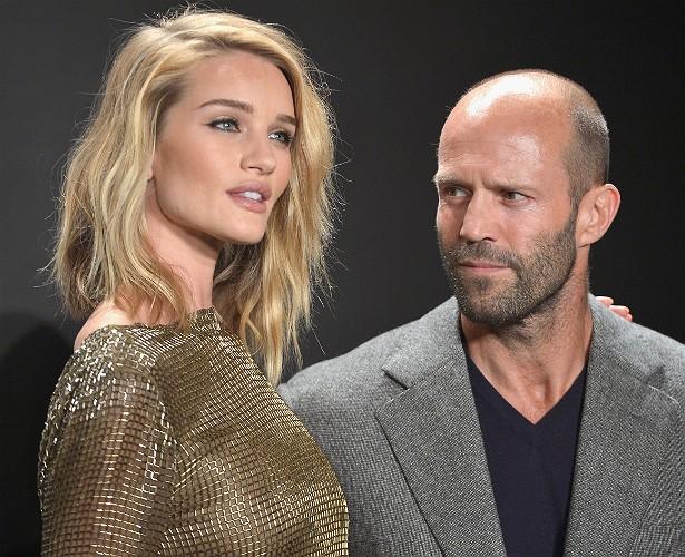 O ator Jason Statham e a modelo Rosie Huntington-Whiteley (Foto: Getty Images)
