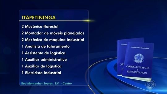 PATs divulgam novas vagas de emprego na região de Itapetininga nesta quarta-feira