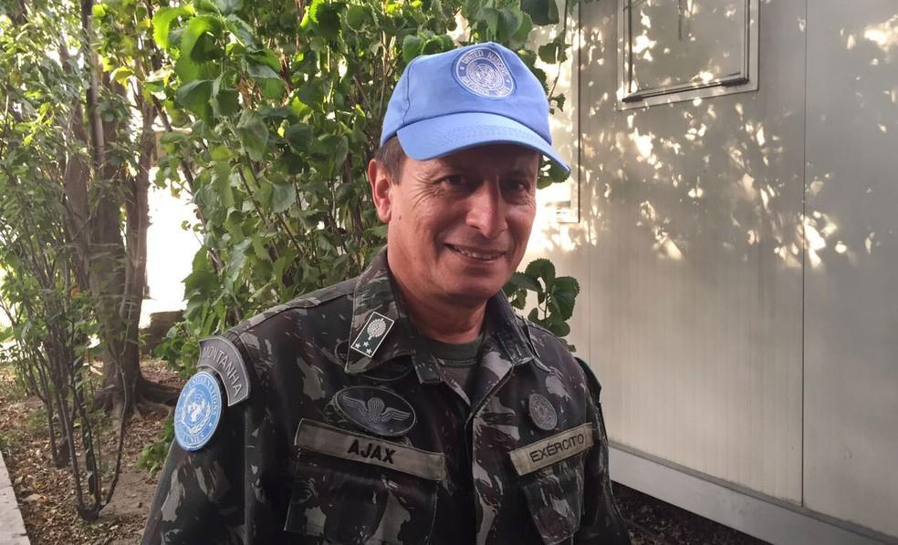 General Ajax Porto Pinheiro disse que nunca viu o Haiti tão calmo (Foto: Tahiane/G1)