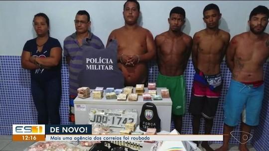 Seis suspeitos de roubar mais de R$ 140 mil de agência dos Correios são presos no ES