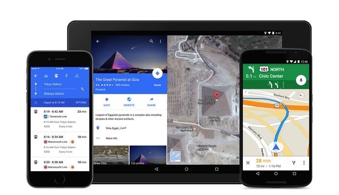 Presente no Android 5.0 Lollipop, Material Design chega ao Google Maps (Foto: Reprodução/Blog Google)