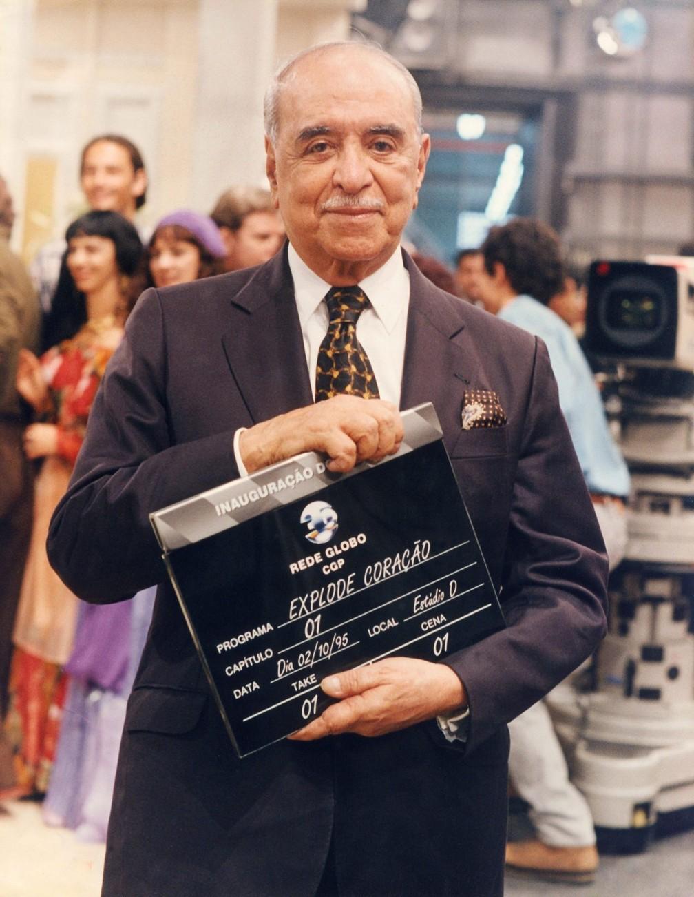 Roberto Marinho na inauguração do Projac, em 1995 — Foto: Nelson Di Rago/Globo