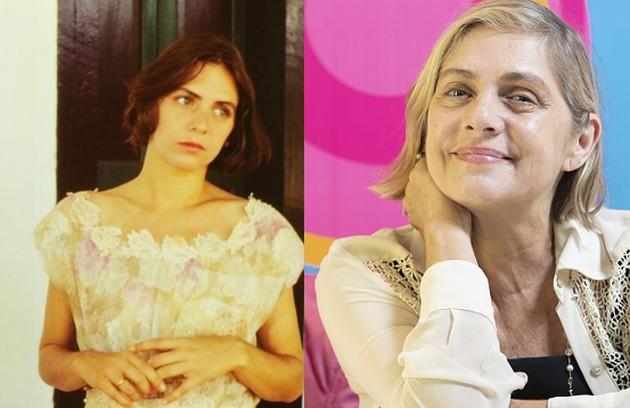Carla Camurati interpretou Marília, moça sofisticada, filha de Donato (Elias Gleizer). Atualmente, Carla é diretora do Festival Internacional de Cinema Infantil (Fici) (Foto: Nelson Di Rago/Globo e Ana Branco)