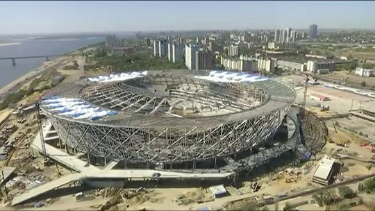 Recuperado de incêndio, estádio de Volgogrado se prepara rumo à Copa