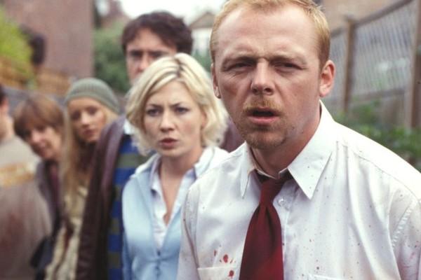 O ator Simon Pegg em cena de Todo Mundo Quase Morto (2004) (Foto: Reprodução)
