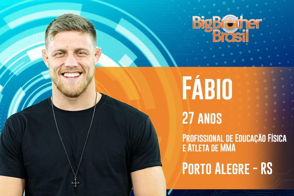 Fábio foi anunciado na quarta-feira como participante do 'BBB19' — Foto: Divulgação