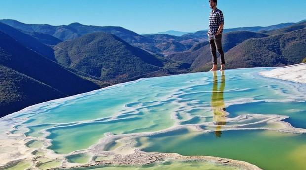 O Hierve el Água tem conjunto de piscinas naturais e artificiais (Foto: Getty Images)