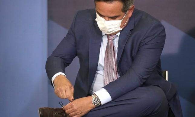 O ministro Ciro Nogueira em solenidade no Planalto