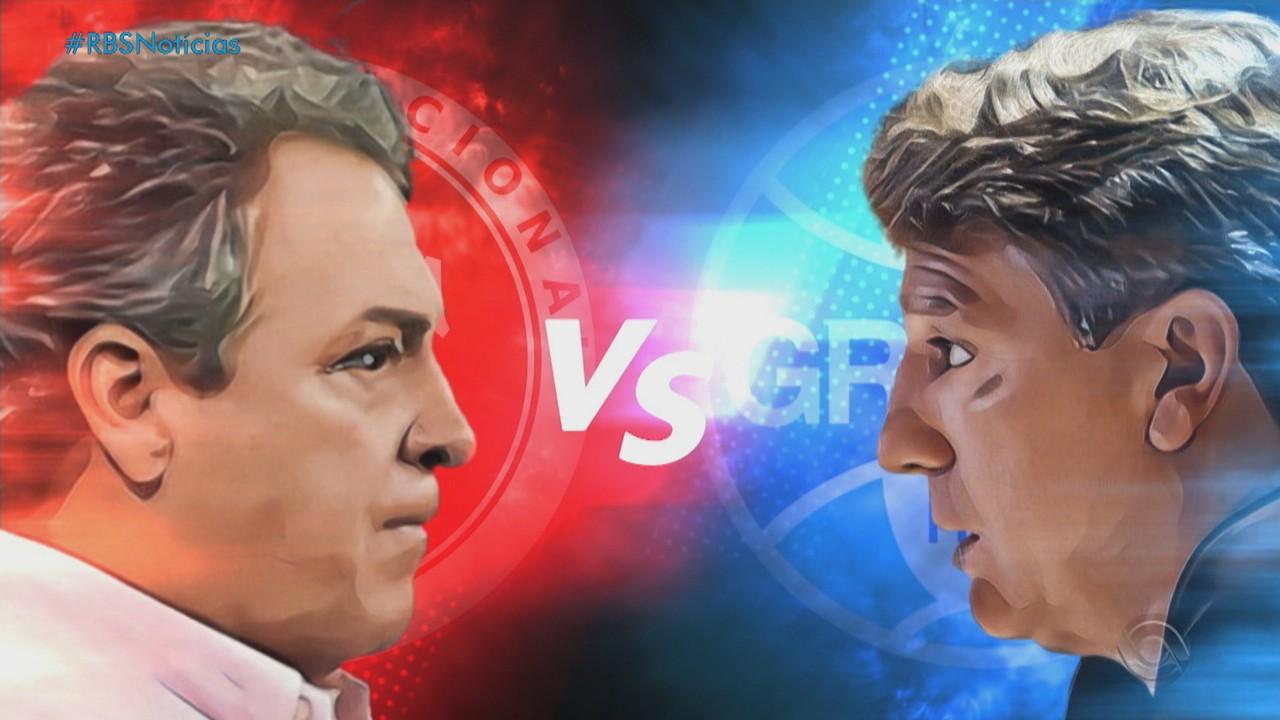 Grêmio e Inter se enfrentam pela 32ª rodada do Brasileirão