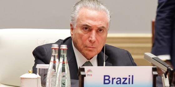Michel Temer na reunião dos BRICS, na China (Foto: Rogério Melo / PR)