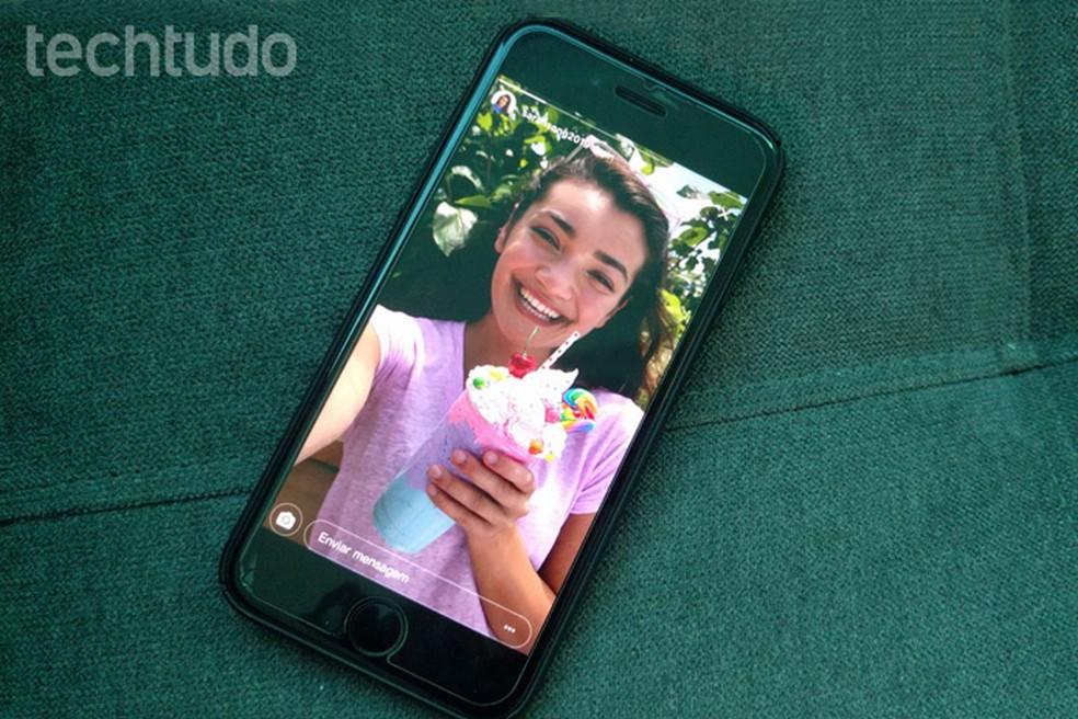 Instagram Stories permite adicionar música em fotos e vídeos (Foto: Carolina Ochsendorf/TechTudo)
