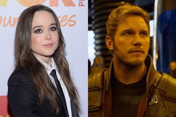 Ellen Page e Chris Pratt (Foto: Getty Images e Divulgação)
