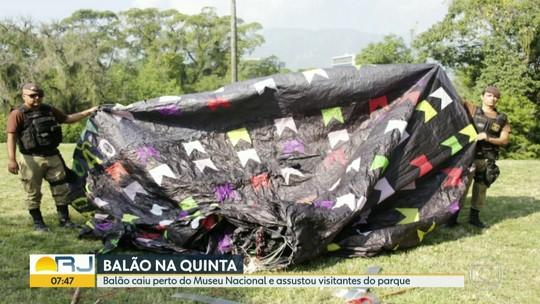 Balão cai na Quinta da Boa Vista e assusta visitantes do parque