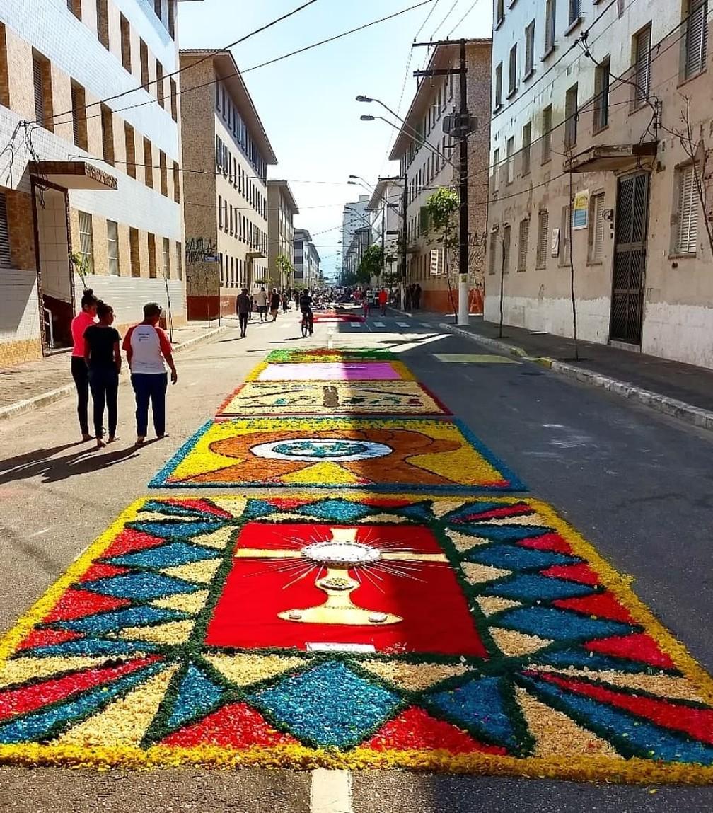 Baixada Santista tem programação especial para a festa de Corpus Christi (Foto: Moiséis Gomes)