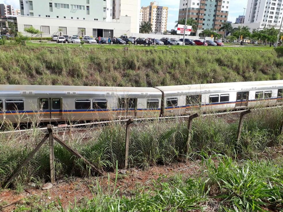 Trem do Metrô que descarrilou no DF (Foto: Reprodução)