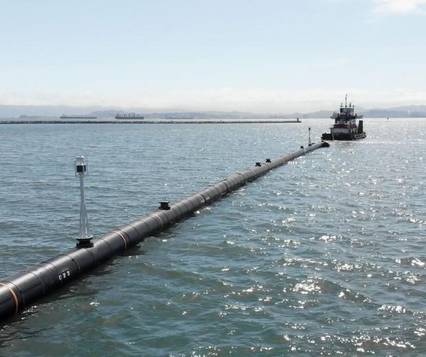 Sistema de limpeza dos oceanos (Foto: divulgação)