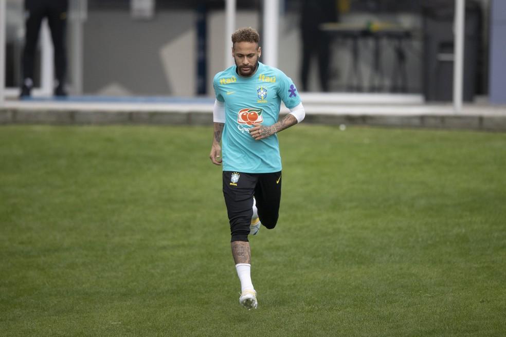 Neymar  — Foto: Lucas Figueiredo/CBF