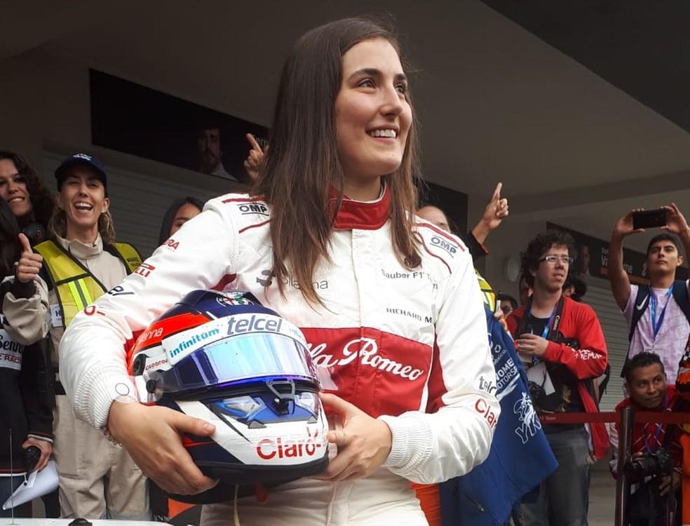 Tatiana Calderón foi atração em testes no México — Foto: Divulgação