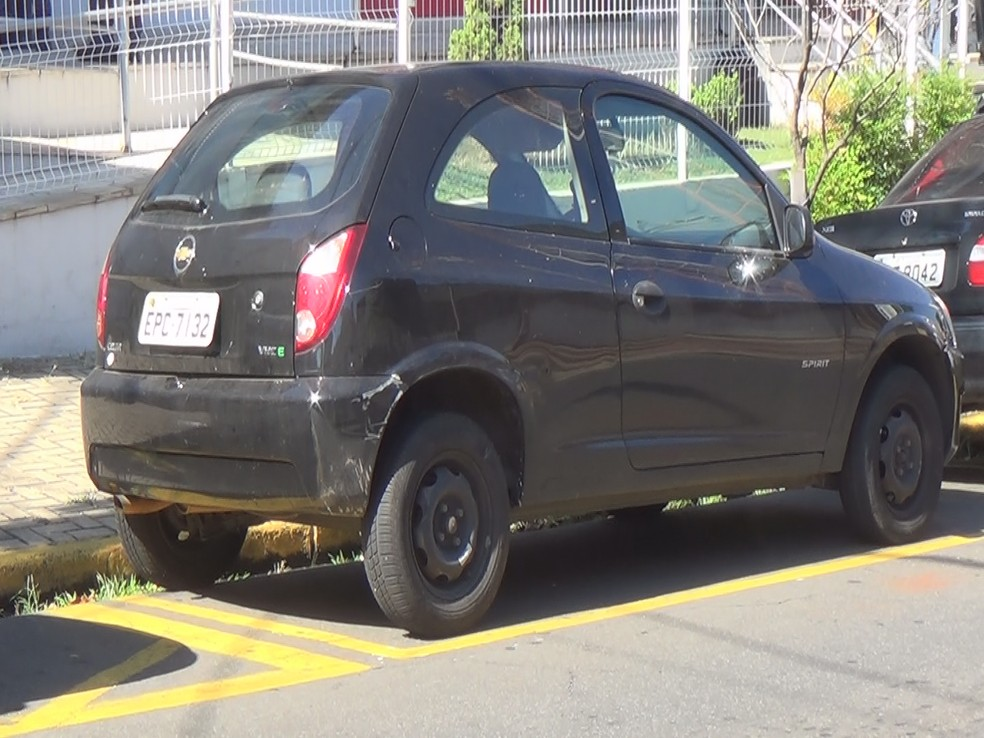 Vítima foi colocado em um carro e seria sequestrada, mas PM interviu; dona do veículo foi presa — Foto: Reprodução/EPTV