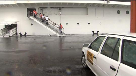 Anvisa investiga suspeita de rubéola em tripulantes de navio de cruzeiros, em Santos