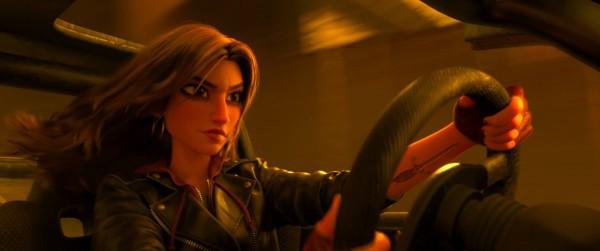 Shank, personagem de Gal Gadot, em Detona Ralph 2 (Foto: Divulgação)
