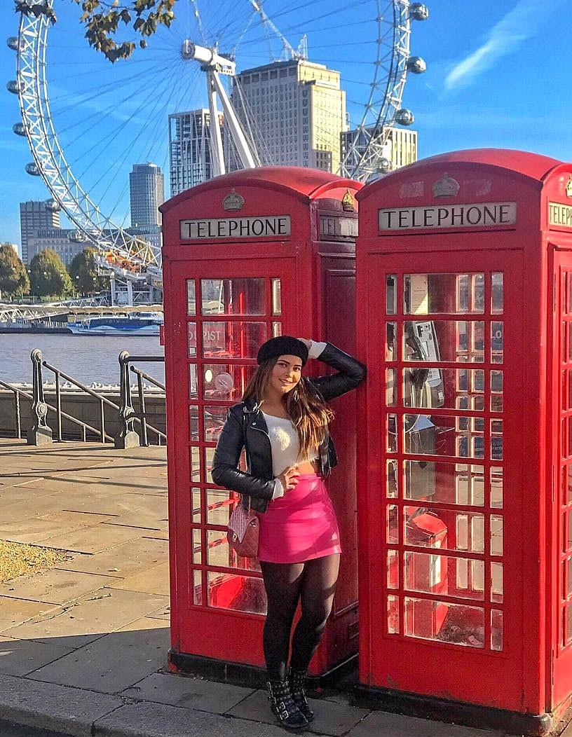 Geisy Arruda em Londres (Foto: Arquivo pessoal)