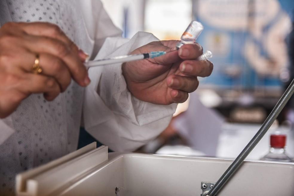 Vacina contra Covid-19 em Rondônia — Foto: Armando Junior/Rede Amazônica
