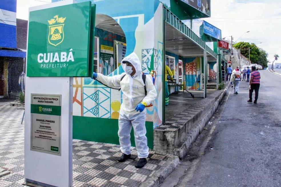 Trabalho vai ser feito diariamente — Foto: Luiz Alves - Prefeitura de Cuiabá