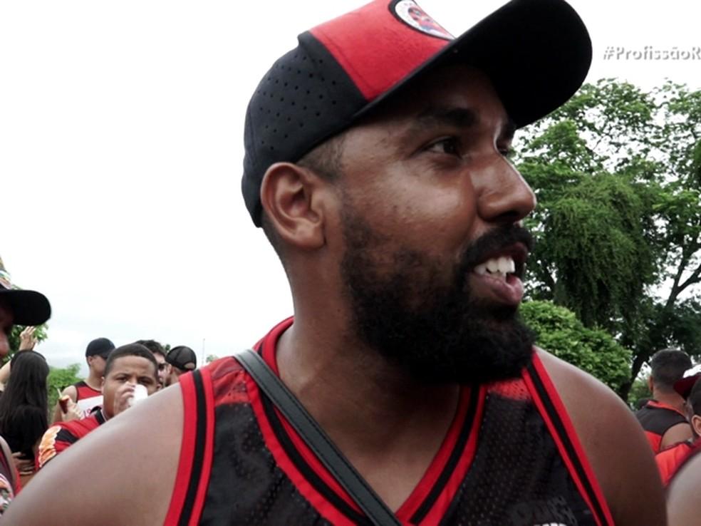 David Santos, fundador da torcida PPG — Foto: Reprodução: TV Globo