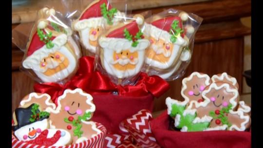 Veja como preparar biscoitos de de castanha decorados para a ceia de Natal