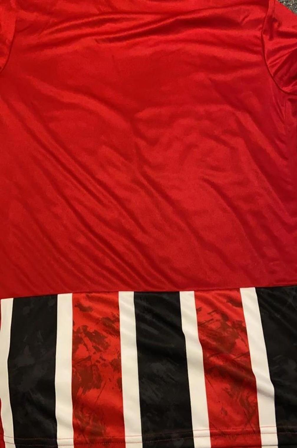 Nova camisa tricolor do São Paulo — Foto: Reprodução