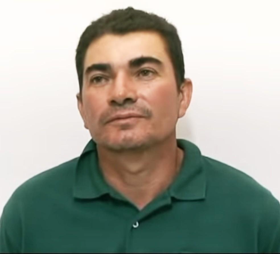 Marcondes Gomes da Silva, de 45 anos, confessou ter matado a menina Iasmin Lorena, de 12 anos (Foto: Reprodução/Vídeo/Polícia Civil)