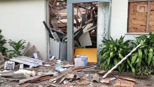 Ladrões armados atiram contra sede da PM e explodem agência bancária em Amaporã