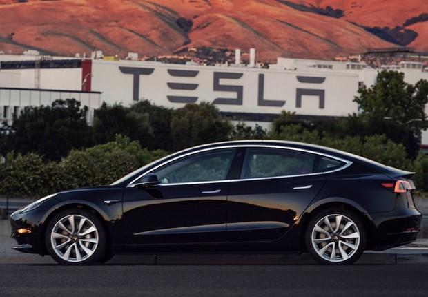 Model 3, novo carro da Tesla  (Foto: Reprodução/Twitter)