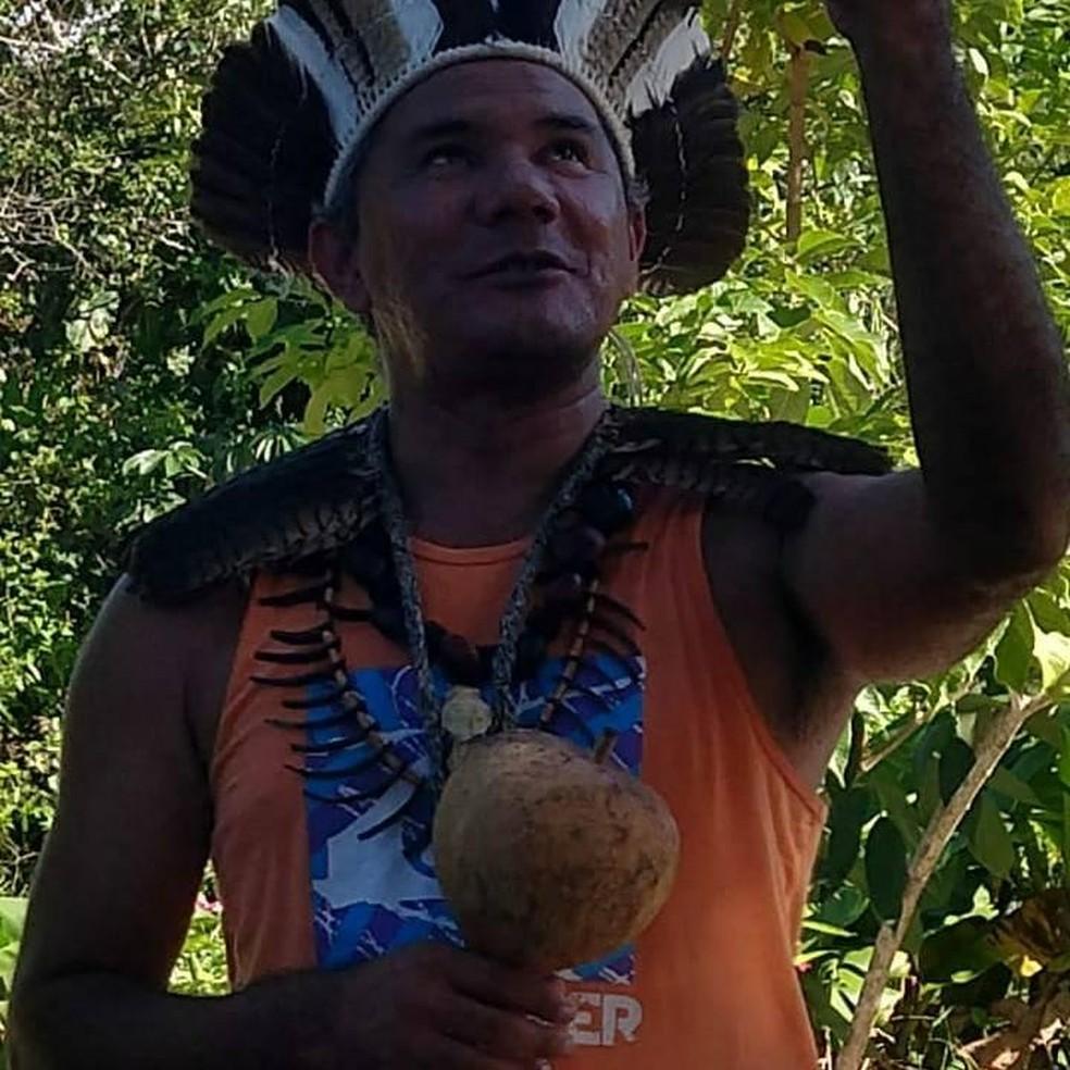 Cacique Luiz Katu — Foto: Reprodução