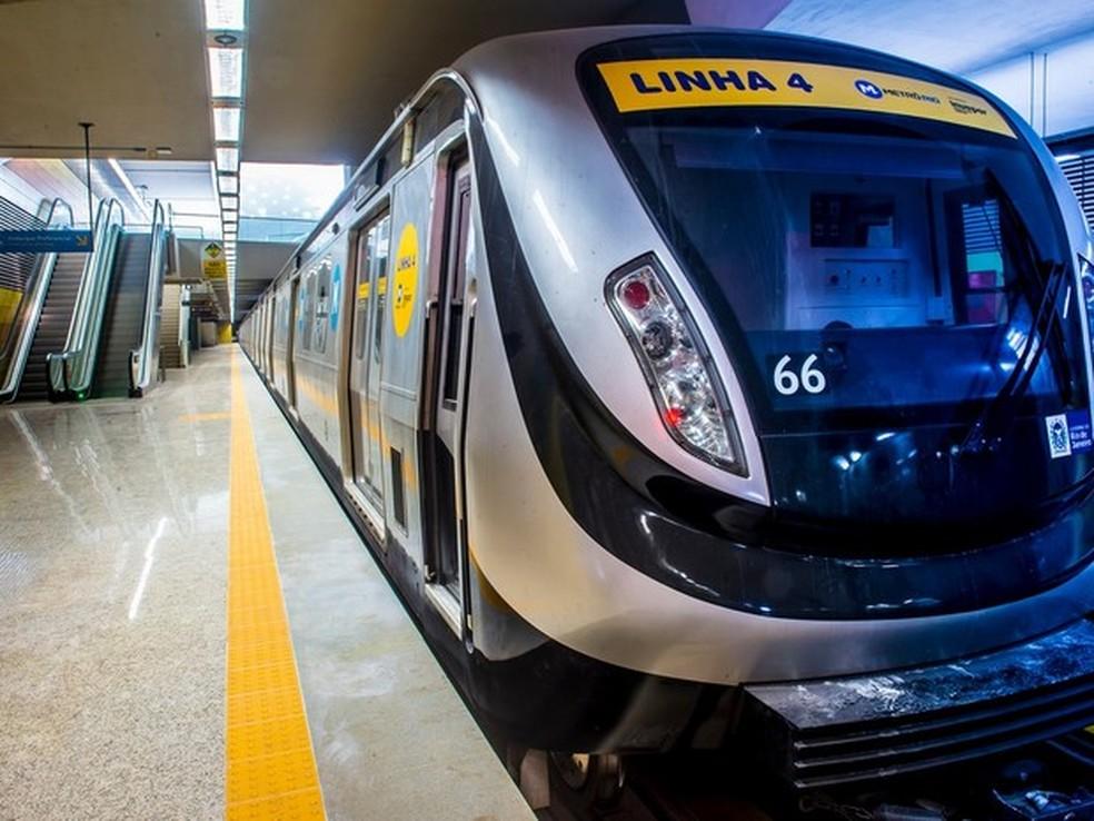 Linha 4 do metrô teve superfaturamento de R$ 2,3 bilhões (Foto: Divulgação/ Metrô Rio)
