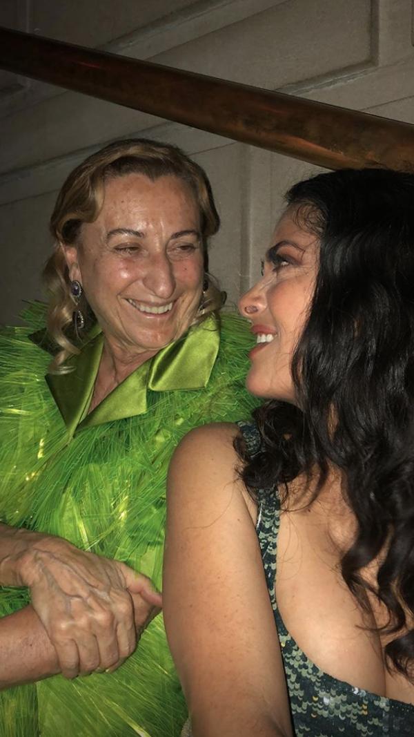 Miuccia Prada e Salma Hayek (Foto: Reprodução/Instagram)