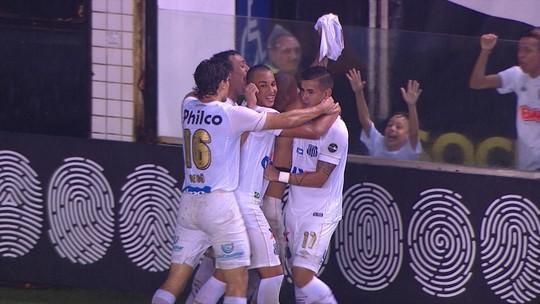 O gol de Santos 1 x 0 Atlético-PR pela 27ª rodada do Brasileirão