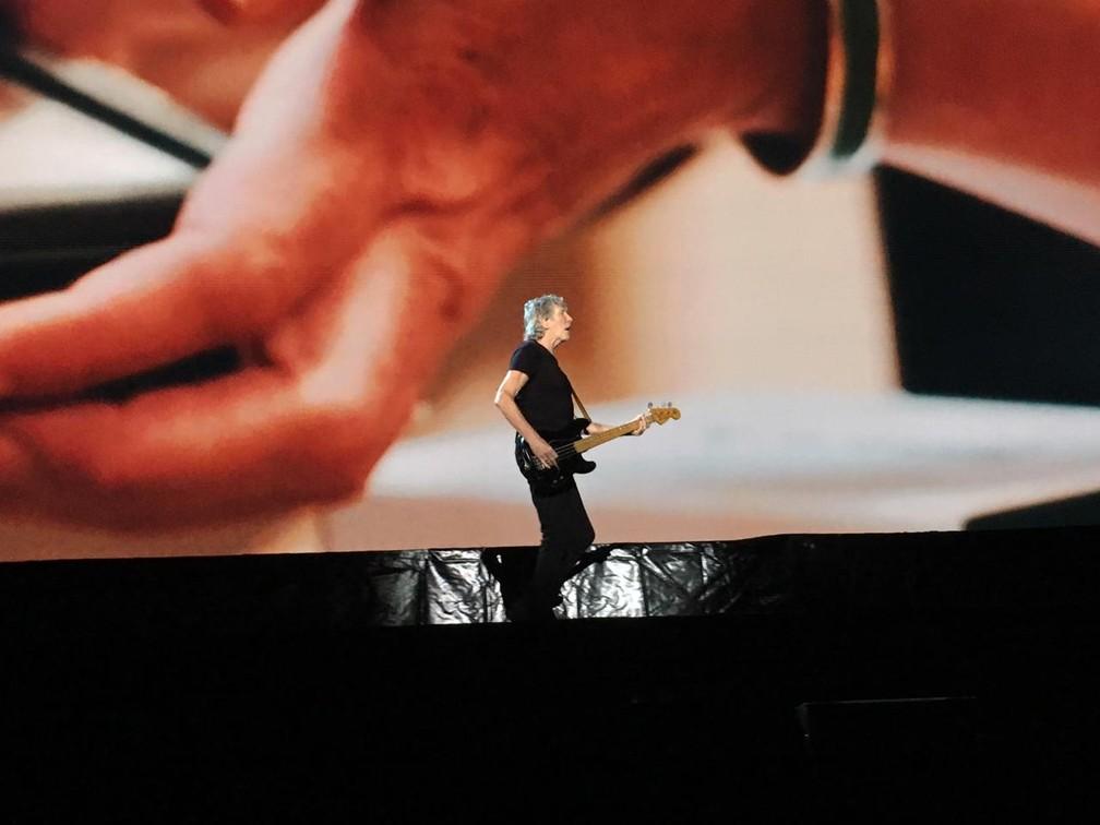Roger Waters em show na Bahia  — Foto: Alan Oliveira/G1