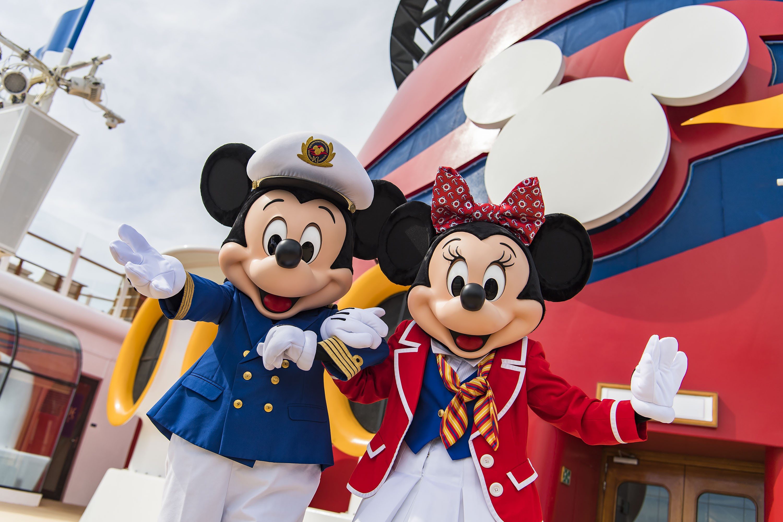 Mickey e Minnie a bordo do Disney Dream (Foto: Divulgação)